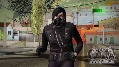 GTA 5 Heists DLC Female Skin 1 für GTA San Andreas