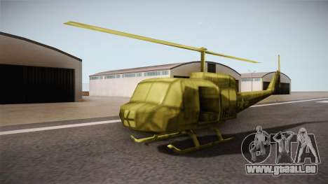 Bell UH-1H from Army Men: Serges Heroes 2 DC pour GTA San Andreas vue de droite