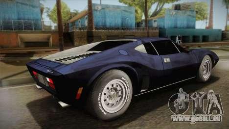 AMC AMX 3 39 1970 pour GTA San Andreas laissé vue