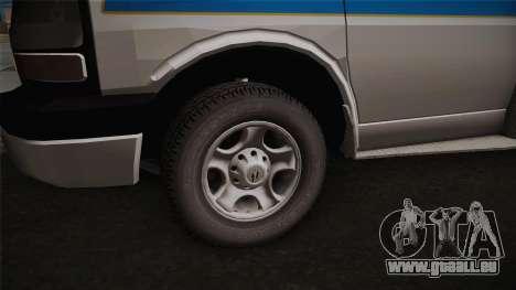 Chevrolet Express 2011 Ambulance für GTA San Andreas Rückansicht