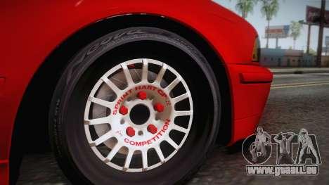 BMW 530d E39 Red Black pour GTA San Andreas sur la vue arrière gauche