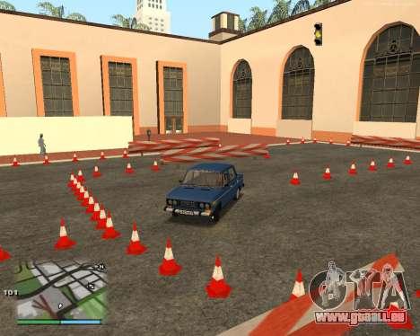 Die Schaltung, wie in der Fahrschule für GTA San Andreas achten Screenshot