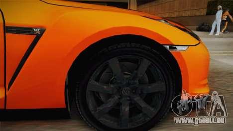 Nissan GT-R R35 für GTA San Andreas Rückansicht