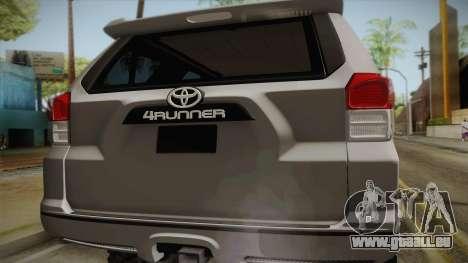 Toyota 4runner 2010 für GTA San Andreas rechten Ansicht