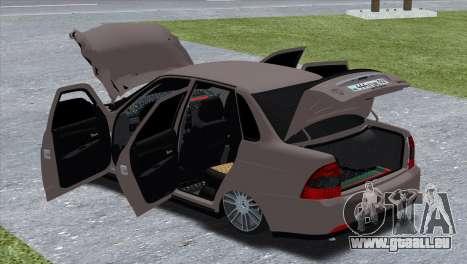 Lada Priora Brodyaga pour GTA San Andreas sur la vue arrière gauche