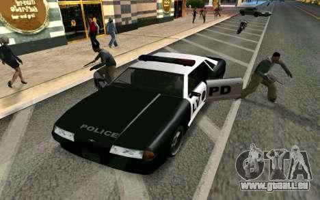 Elegy Police pour GTA San Andreas vue arrière
