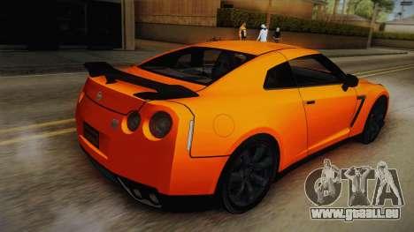 Nissan GT-R R35 pour GTA San Andreas laissé vue