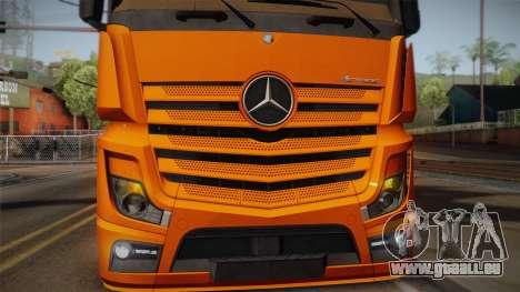 Mercedes-Benz Actros Mp4 4x2 v2.0 Steamspace pour GTA San Andreas vue arrière