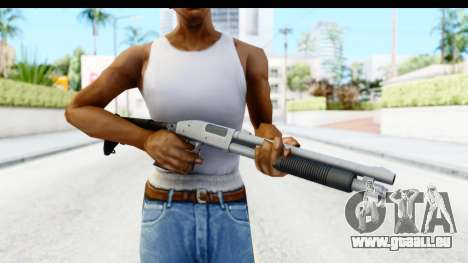 Tactical Mossberg 590A1 Chrome v2 für GTA San Andreas dritten Screenshot