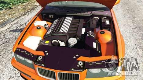 GTA 5 BMW 328i (E36) M-Sport v1.1 [replace] arrière droit vue de côté