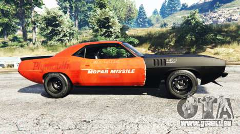 Plymouth Cuda BeckKustoms pour GTA 5