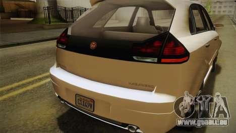 GTA 5 Emperor Habanero IVF für GTA San Andreas obere Ansicht