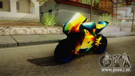 Rainbow Motorcycle für GTA San Andreas zurück linke Ansicht