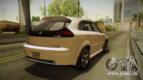 GTA 5 Emperor Habanero IVF für GTA San Andreas zurück linke Ansicht