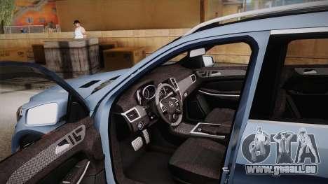 Mercedes-Benz GL63 Brabus für GTA San Andreas Innenansicht