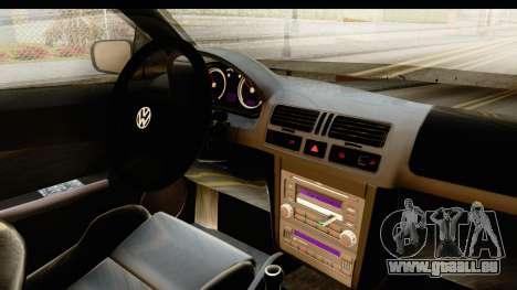 Volkswagen Bora Pickup für GTA San Andreas Innenansicht