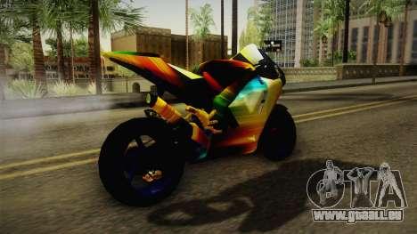 Rainbow Motorcycle für GTA San Andreas rechten Ansicht