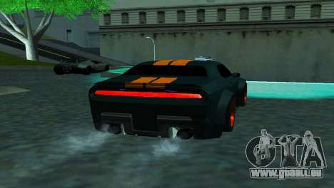 DODGE CHALLENGER SRT8 POWER pour GTA San Andreas sur la vue arrière gauche
