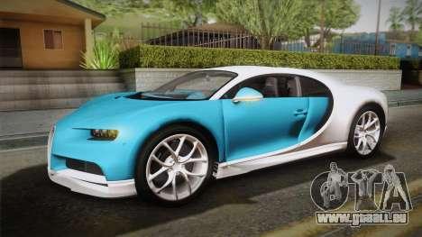 Bugatti Chiron 2017 v2.0 Italian Plate für GTA San Andreas Rückansicht