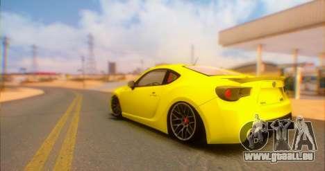Toyota GT86 2015 Stance pour GTA San Andreas laissé vue