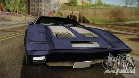 AMC AMX 3 39 1970 pour GTA San Andreas sur la vue arrière gauche