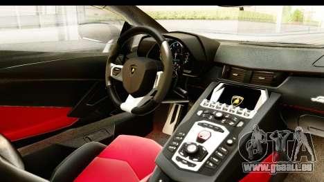 Lamborghini Aventador LP720-4 2013 für GTA San Andreas Innenansicht