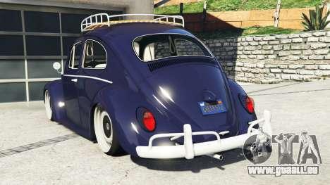 GTA 5 Volkswagen Fusca 1968 v0.9 [add-on] hinten links Seitenansicht