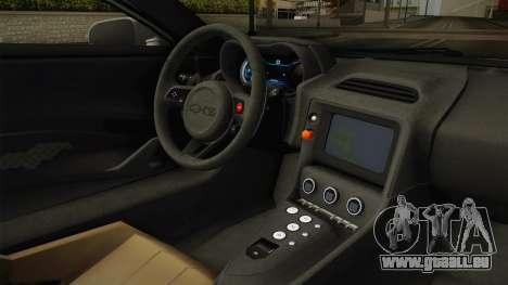 Jaguar C-X75 Ika Musume Itasha für GTA San Andreas Innenansicht