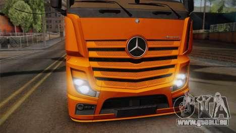Mercedes-Benz Actros Mp4 4x2 v2.0 Steamspace pour GTA San Andreas sur la vue arrière gauche