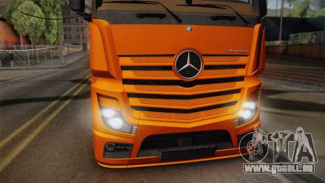 Mercedes-Benz Actros Mp4 4x2 v2.0 Steamspace für GTA San Andreas zurück linke Ansicht