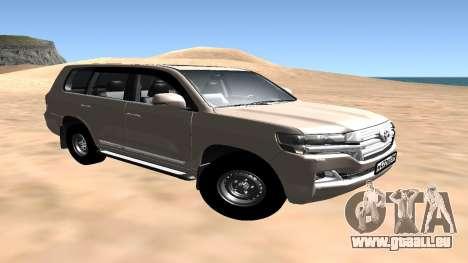 Toyota Land Cruiser 200 2016 für GTA San Andreas zurück linke Ansicht