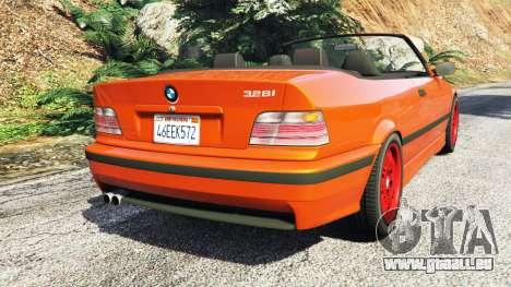 GTA 5 BMW 328i (E36) M-Sport v1.1 [replace] arrière vue latérale gauche