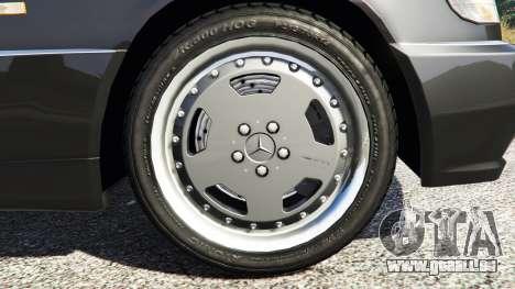 GTA 5 Mercedes-Benz W140 AMG [replace] arrière droit vue de côté