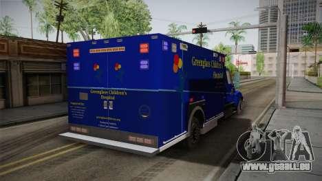 International Terrastar Ambulance 2014 für GTA San Andreas zurück linke Ansicht