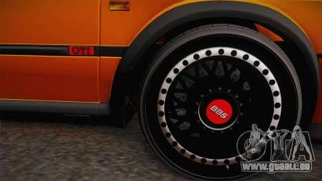 Volkswagen Golf Mk2 GTI .ILchE STYLE. pour GTA San Andreas sur la vue arrière gauche