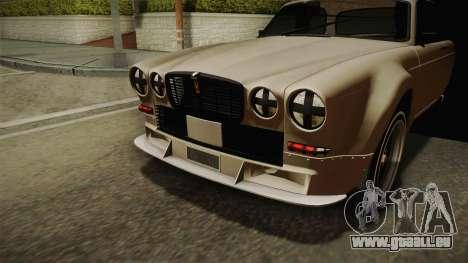 Jaguar Broadspeed XJC für GTA San Andreas Rückansicht