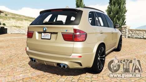 GTA 5 BMW X5 M (E70) 2013 v1.2 [add-on] arrière vue latérale gauche