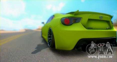 Toyota GT86 2015 Stance pour GTA San Andreas vue de droite