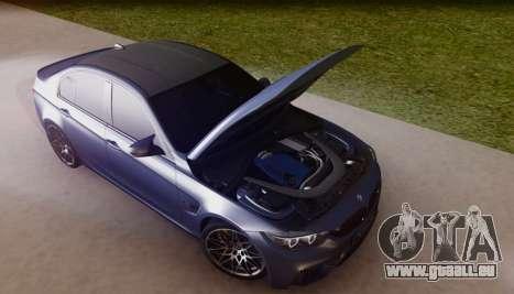 BMW M3 F30 30 Jahre pour GTA San Andreas vue de côté
