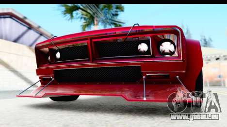 GTA 5 Declasse Tampa Drift IVF pour GTA San Andreas vue de dessus