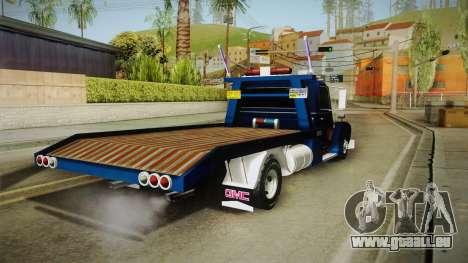 GMC 4100 1950 GRUA pour GTA San Andreas laissé vue