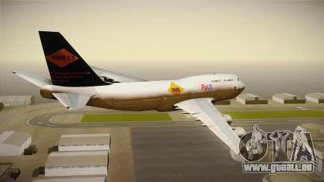 Boeing 747-400 FlyUS with NMB Logo pour GTA San Andreas vue de droite