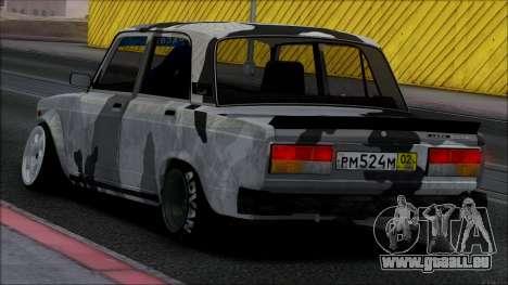 2107 Unique pour GTA San Andreas vue intérieure