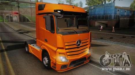 Mercedes-Benz Actros Mp4 4x2 v2.0 Steamspace pour GTA San Andreas