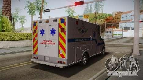 Chevrolet Express 2011 Ambulance für GTA San Andreas zurück linke Ansicht