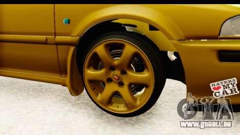Rover 220 Gold Edition pour GTA San Andreas vue arrière