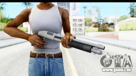 Tactical Mossberg 590A1 Chrome v1 für GTA San Andreas dritten Screenshot