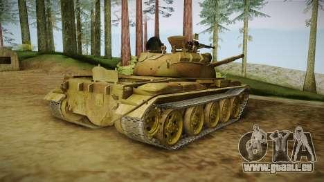 T-62 Desert Camo v3 pour GTA San Andreas laissé vue