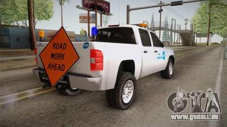 Chevrolet Silverado 2009 SA DOT pour GTA San Andreas laissé vue