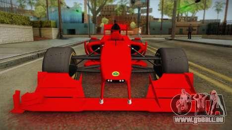 Lotus F1 T125 für GTA San Andreas rechten Ansicht
